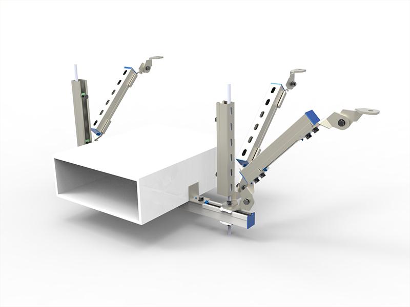 抗震支架—电缆桥架双向支撑