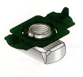 抗震支吊架成品支架C型槽钢专用塑翼螺母现货厂家展宇制造