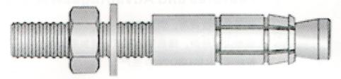 抗震支吊架专用膨胀机械锚栓后扩底自切底锚栓现货展宇制造