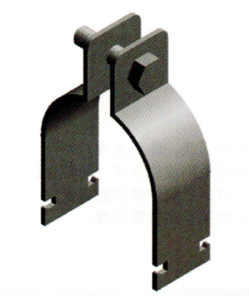 抗震支吊架组合支架P型管夹抱箍国标现货厂家展宇制造