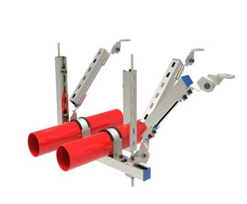 双管双向抗震支架