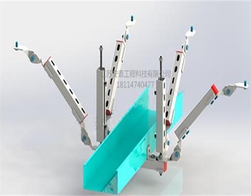 厂家直销江苏安素电缆桥架双向抗震支架